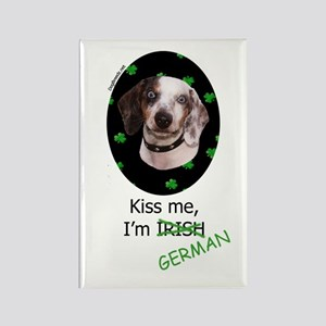 Kiss me Dachshund Rectangle Magnet