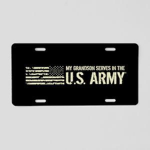 U.S. Army: Grandson Aluminum License Plate