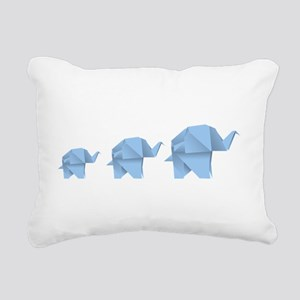 Origami elephant family Rectangular Canvas Pillow
