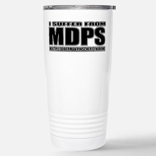 Doberman Pinscher Stainless Steel Travel Mug