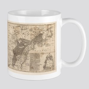 British and French Settlements of America (17 Mugs
