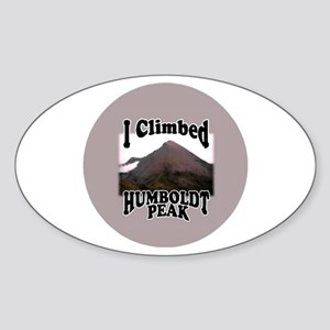 I Climbed Humboldt Peak Oval Sticker