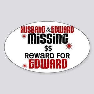 Husband & Edward Missing TWILIGHT Oval Sticker