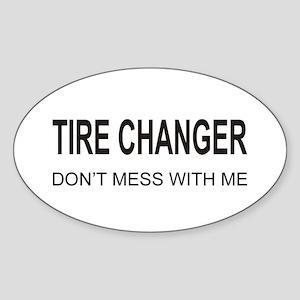 Tire Changer Oval Sticker