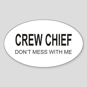 Crew Chief Oval Sticker