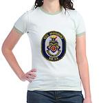 USS MISSOURI Jr. Ringer T-Shirt