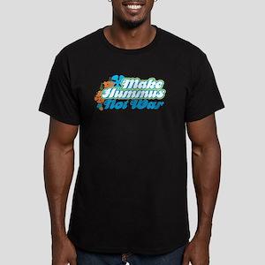 Make Hummus Not War Men's Fitted T-Shirt (dark)
