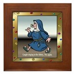 Singing Nun Framed Tile