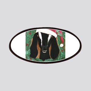 Nubian Goat Christmas Patch