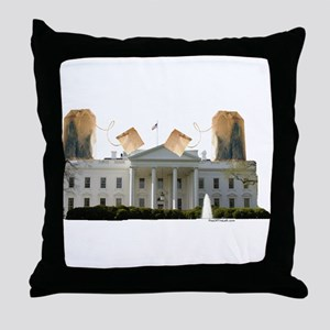 Teabag The White House Throw Pillow