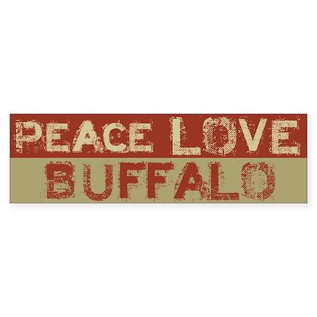 Peace Love Buffalo Bumper Sticker