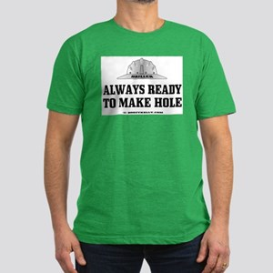 Always Ready To Make Hole Men's Fitted T-Shirt (da