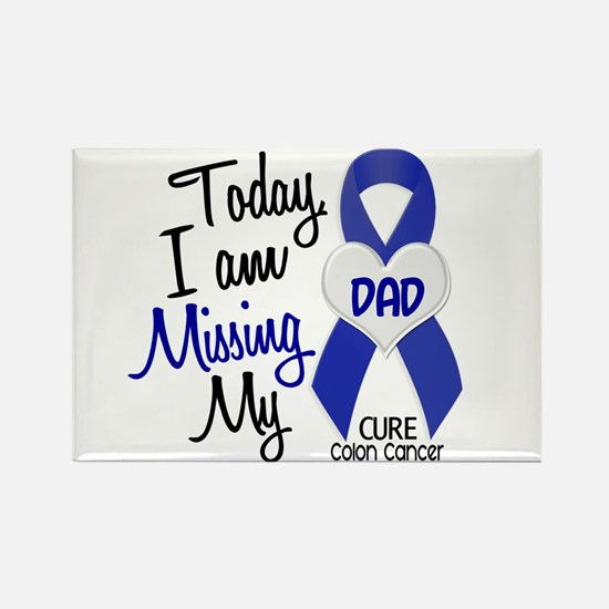 Missing My Dad 1 CC Rectangle Magnet (10 pack)