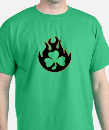 flame and shamrock3 T-Shirt