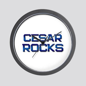 cesar rocks Wall Clock