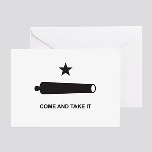 Battle of Gonzales Flag Greeting Cards (Pk of 10)