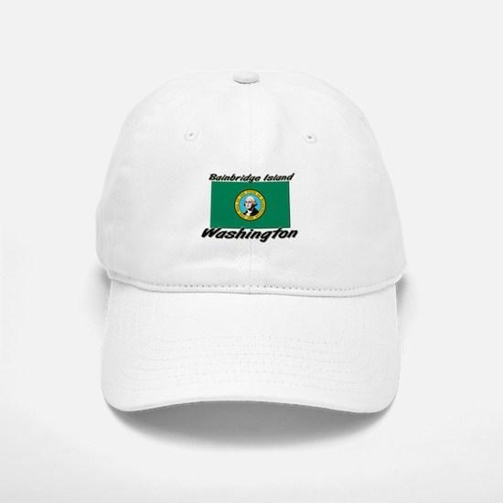 Bainbridge Island Washington Baseball Baseball Cap