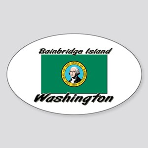 Bainbridge Island Washington Oval Sticker