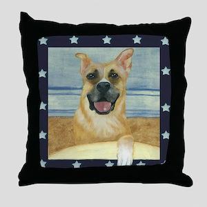 Americana Dog Throw Pillow
