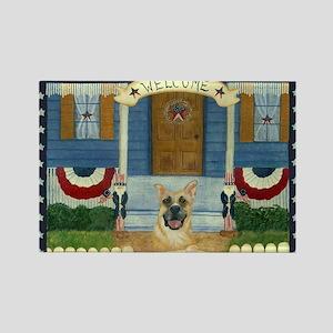 Americana Dog Rectangle Magnet