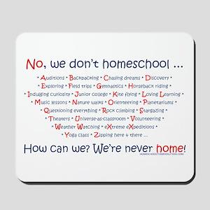 We Don't Homeschool Mousepad
