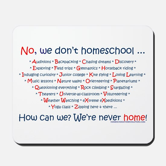 We Don't Homeschool Mousepad