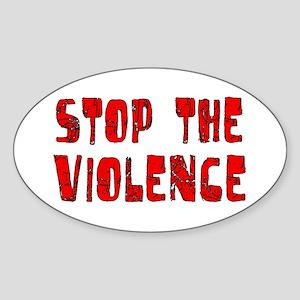Stop The Violence Oval Sticker
