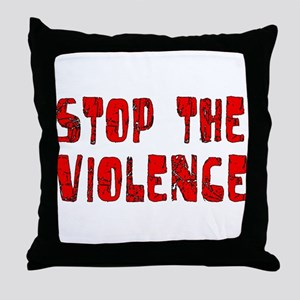 Stop The Violence Throw Pillow