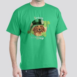 St. Pat Longhaired Dachschund Dark T-Shirt