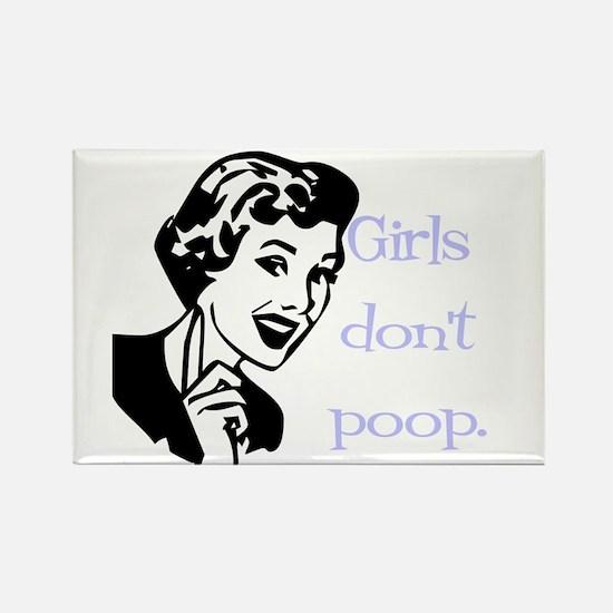Girls don't poop Rectangle Magnet