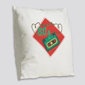 Made In The 80s Baby Retro Mix Burlap Throw Pillow