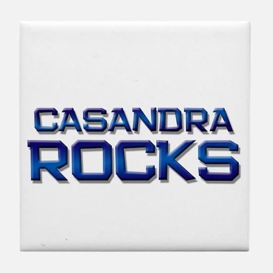 casandra rocks Tile Coaster