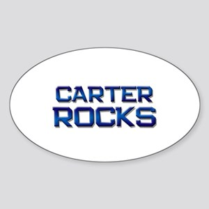 carter rocks Oval Sticker