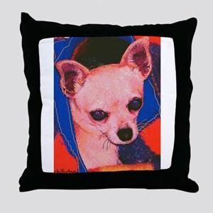 """Chihuahua """"Chillydog"""" Throw Pillow"""