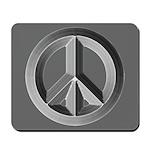 Silver Peace Sign Mousepad