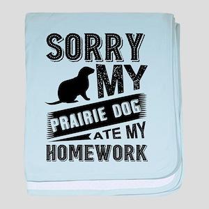 Prairie dog baby blanket
