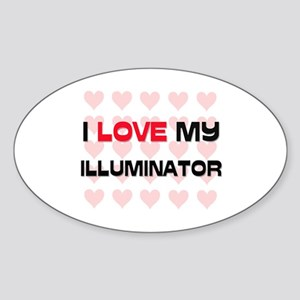 I Love My Illuminator Oval Sticker