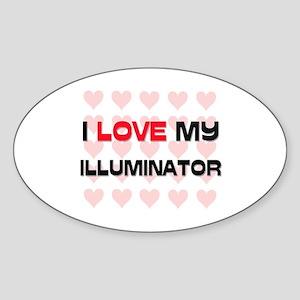 I Love My Illuminator Oval Sticker