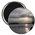 """Winter Sunset 0004 2.25"""" Magnet (100 pack)"""