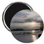 "Winter Sunset 0004 2.25"" Magnet (10 pack)"