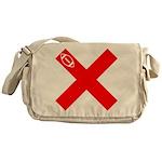 football-qb-a-red Messenger Bag