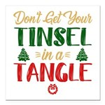 "Tinsel In A Tangle Square Car Magnet 3"" X 3&q"