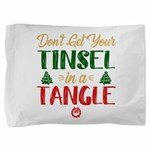 Fun Tinsel In A Tangle Christmas Pillow Sham