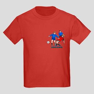 Playing Soccer Kids Dark T-Shirt