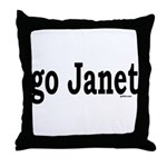 go Janet Throw Pillow