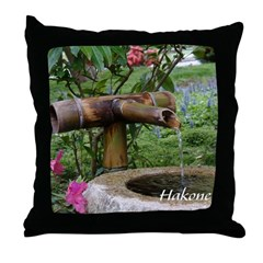 Bamboo Water Basin Throw Pillow