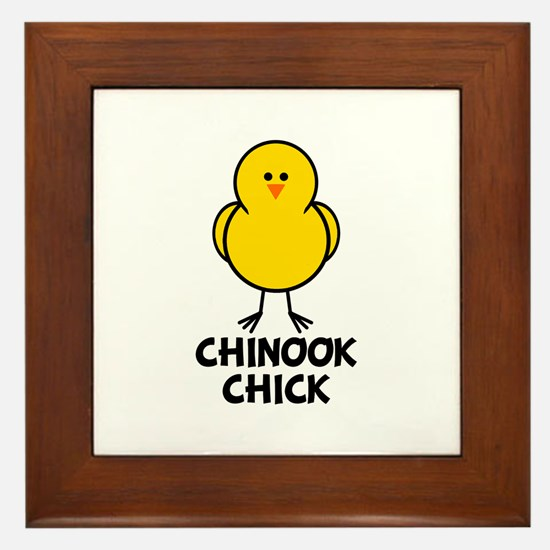 Chinook Chick Framed Tile