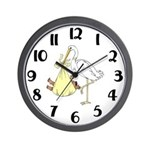 Stork and African American Baby Wall Clock