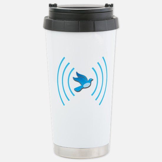 Broadcasting Twit - Stainless Steel Travel Mug