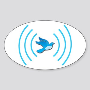 Broadcasting Twit - Oval Sticker